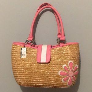 New York & Company wheat straw bag